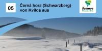 Černá hora (Schwarzberg) von Kvilda aus